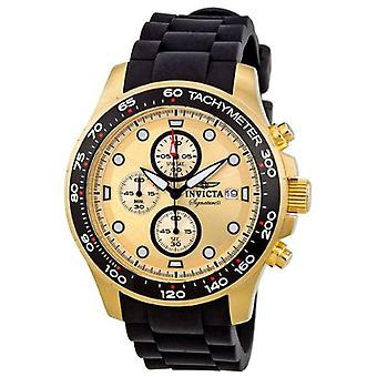Invicta Men's Signure 7373 Gold Tone Chronograph Watch