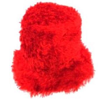 Flower Power Felt Hat - Red