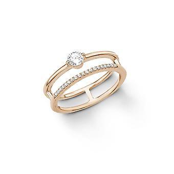 s.Oliver Jewel Damen Ring Silber Roségold Zirkonia 201261