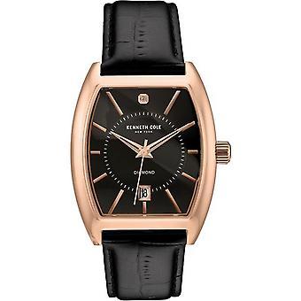 Kenneth Cole New York men's wrist watch analog quartz leather 10030819