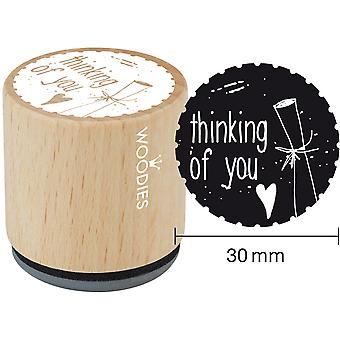 Woodies Mounted Rubber Stamp 1.35