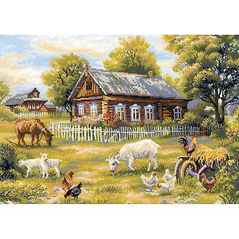 Afternoon In The Country Counted Cross Stitch Kit-19.75