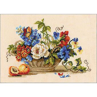 Still Life With Peach Counted Cross Stitch Kit-11.75