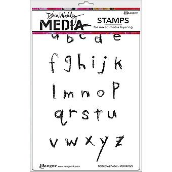 Dina Wakley Media Cling Stamps 6