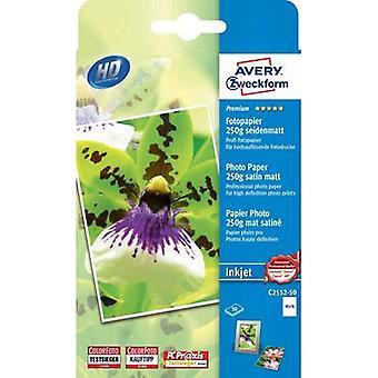 Foto papel Avery Zweckform Premium foto papel de inyección de tinta C2552-50
