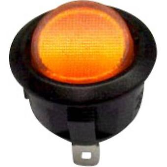 SCI Toggle switch R13-208B-02 YE 250 V AC 10 A 1 x Off/On latch 1 pc(s)