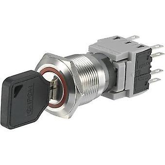 TRU COMPONENTS LAS1-BGQ-22Y/32 Key switch 250 V AC 5 A 2 x On/Off/(On) 2 x 90 ° IP40 1 pc(s)