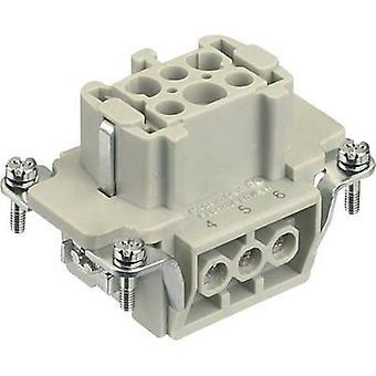 Socket inset Han® E 09 33 006 2701 Harting 6 + PE Screws 1 pc(s)