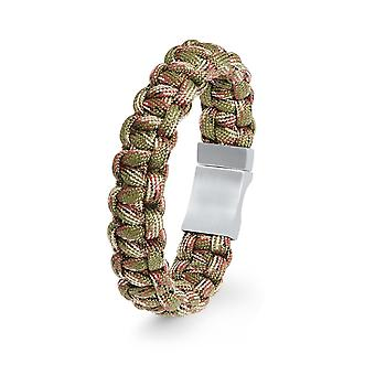 s.Oliver jewel mens bracelet nylon khaki stainless steel 2022616