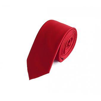 Schlips Krawatte Krawatten Binder 6cm rot uni Fabio Farini