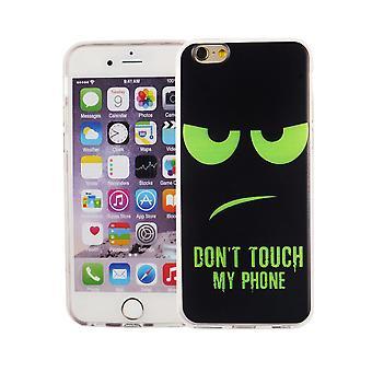 Handy Hülle für Apple iPhone 6 / 6s Cover Case Schutz Tasche Motiv Slim Silikon TPU Dont Touch my Phone Grün