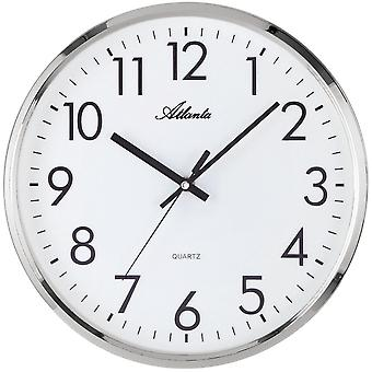 Wall clock wall clock quartz high-quality ABS housing silver creeping second