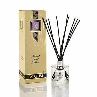 Large & Natural Reed Diffuser - Long-lasting & Healthy - Beautiful Perfumes that Compliment You - Fragrances for 6 - 8 months (200 ml) - by PAIRFUM - Perfume: Linen & Lavender - with Black Reeds