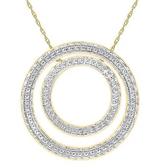 KJ Beckett Cut Out Double Circle Necklace - Yellow Gold/Silver