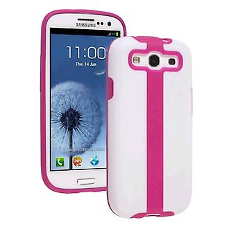 Ventev 2TOUCH Case for Samsung Galaxy S III (White PC/ Purpinkle TPU)