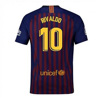 2018-2019 Barcelona Home Nike Football Shirt (Rivaldo 10)