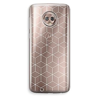 Motorola Moto G6 Transparent Case (Soft) - Cubes black and white