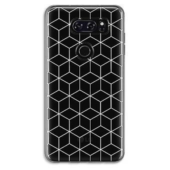 LG V30 Transparent Case - Cubes black and white