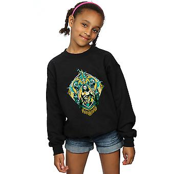 DC Comics Girls Aquaman Graben Crest Sweatshirt