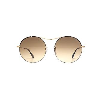 Tom Ford Veronique 02 Sunglasses In Shiny Rose Gold Brown Gradient