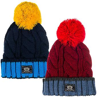 Animal Boys Kids Childrens Galie Cable Knit Bobble Beanie Hat - One Size