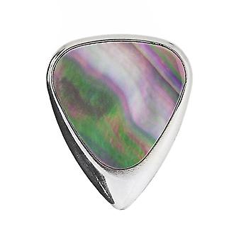 Incrustation de tons Mini Black Mother of Pearl 1 Guitar Pick ILTM-BLKMOP-1