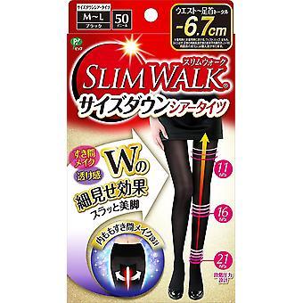 Slimwalk Size Down Sheer Tights ( BLACK / M-L size )