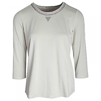 Betty Barclay 3/4 Sleeve Knitted Collar Top