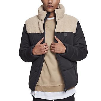 Urban classics - Sherpa mix boxy buffer jacket black