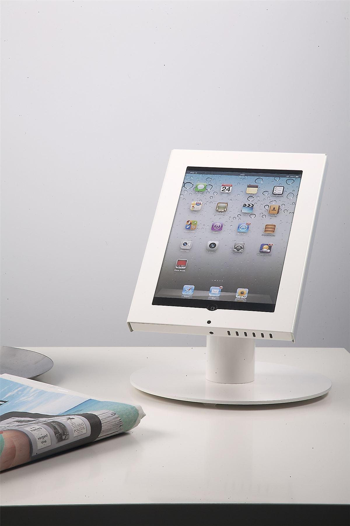 Odyssey iPad stand table model White - Suitable for iPad AIR, iPad 2-4 and many 9.7