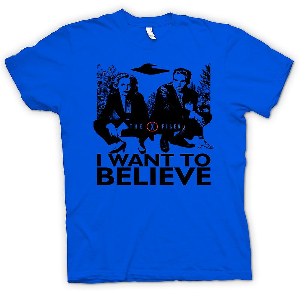 Mens T-shirt - X Files I Want To believe - UFO