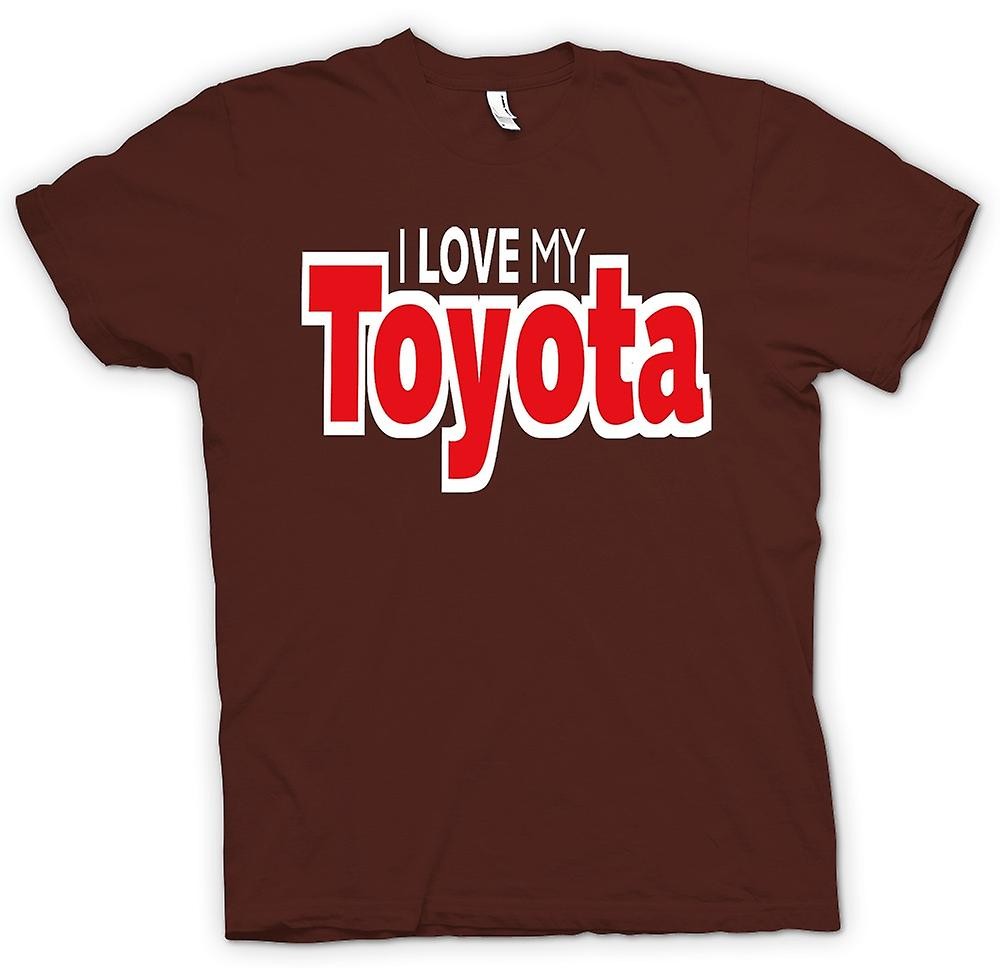Mens T-shirt - I Love My Toyota - Car Enthusiast