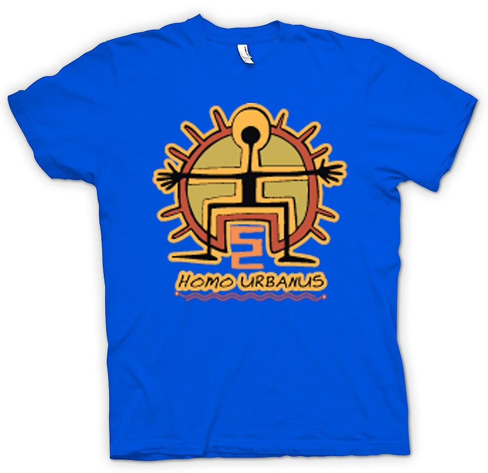 Mens T-shirt-Homo Urbanus Caveman Design