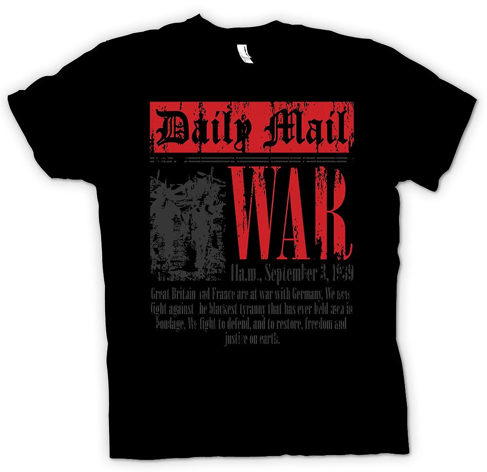 Kids T-shirt - Newspaper - War Declaration Sep 3rd 1939