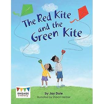 Rød drage og grønne dragen av røde dragen og grønne Kite-