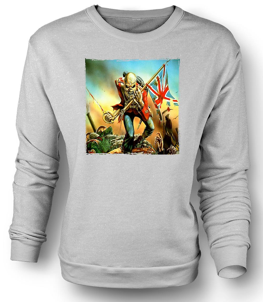 Mens Sweatshirt Iron Maiden - Trooper - Album Art