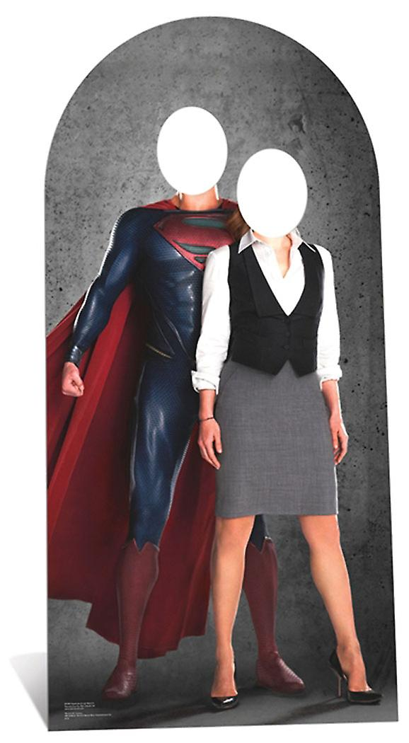 Superman and Lois Lane Stand In Cardboard Cutout / Standee / Standup
