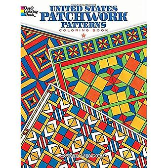 United States Patchwork Patterns Coloring Book