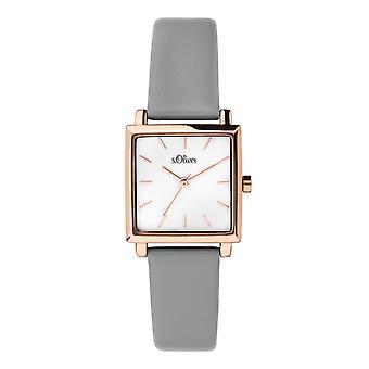 s.Oliver Damen Uhr Armbanduhr Leder SO-3711-LQ