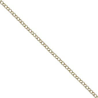 9ct Gold 1.8mm wide round linked Belcher Pendant Chain 20 inches