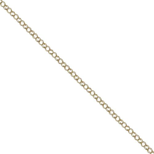 9ct Gold 1.8mm wide round linked Belcher Pendant Chain 16 inches Only Suitable for Children