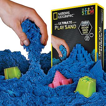 National Geographic Play Sand - 900g Sand blue Castle Moulds