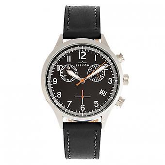 Elevon Antoine Chronograph Leather-Band Watch w/Date - Black