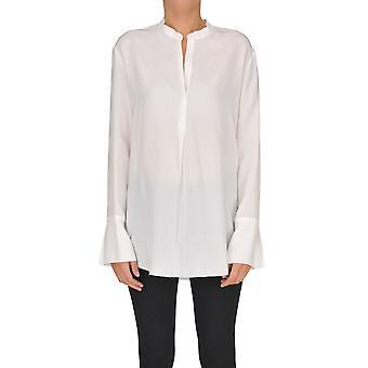 Gotha White Silk Blouse