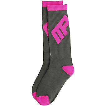 MusclePharm Mens MP Crew Socken - Grau/Pink
