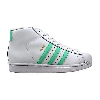 Adidas Pro modellen J hvit/påske grønn-gylne metallisk BY3732 klasse-skole