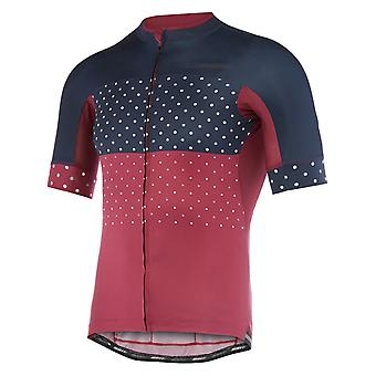 Madison Classy Burgundy-Ink Blue Hex Dots 2018 Roadrace Apex Short Sleeved Cycli