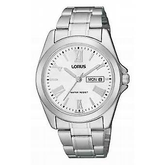 Lorus Mens Steel Silver Day / Date RJ639AX9 Watch