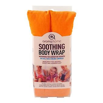 Aroma Home Fine Cord Soothing Lavender Wheat Bag: Orange