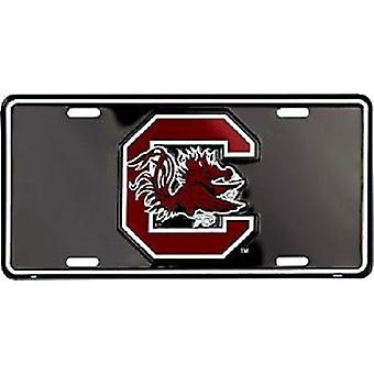 South Carolina Gamecocks NCAA Black License Plate